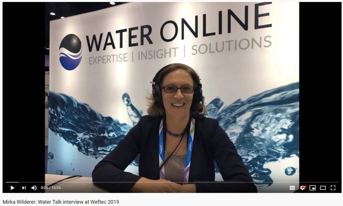Mirka Wilderer: Water Talk interview at Weftec 2019
